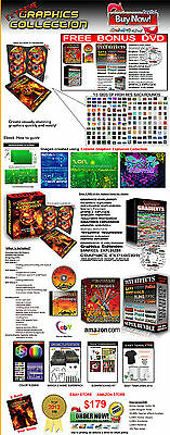 Hi-Res Graphics Collection Kit, scrap booking, backgrounds,  DVD, software