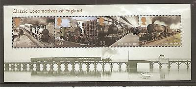GB MINIATURE SHEET - 2011 - CLASSIC LOCOMOTIVES OF ENGLAND - UNM MINT