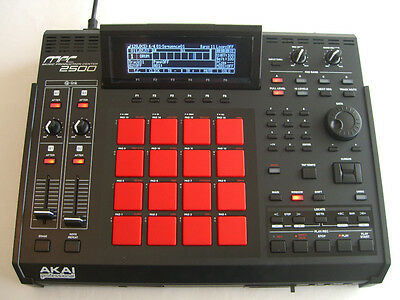 Akai Mpc 2500 Custom Black Red Fully Maxed Out 195499