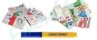 1 x Money Tester Pen Counterfeit Bank Note Detector Pens - Same Day Dispatch