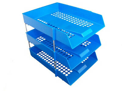 Risers//Rods In//Out A4 Storage Desk Tidy 30x Stackable Filing Letter Trays BLACK