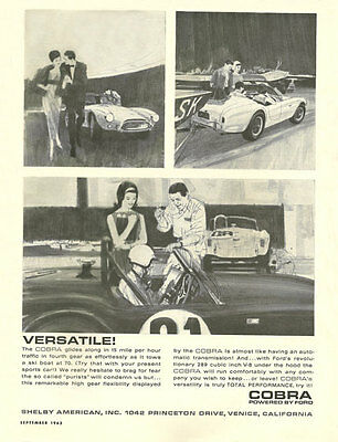 Vintage & Rare 1963 Shelby American Cobra Ad Better Than Original Print
