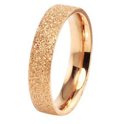 Titanium steel 18K rose gold-plated women's ring Love gifts many size J15