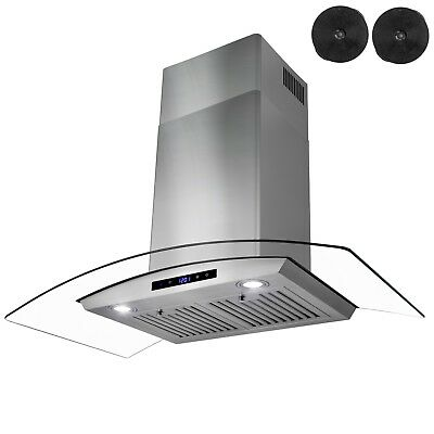 """30"""" New Wall Mount Range Hood + Carbon Filters Ductless/ventless"""