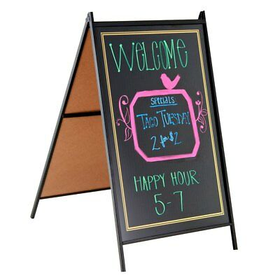 Sidewalk A Frame Sandwich Business Sign Chalkboard with 4 Zig Waterproof Markers