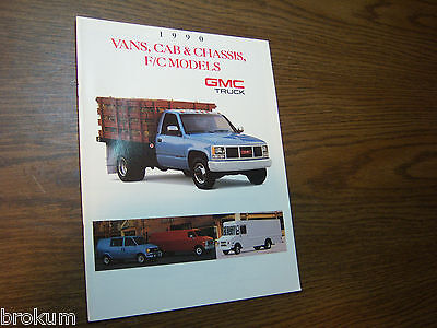 Mint 1990 90 Gmc Vans F/c Chassis Sales Brochure Manual Book