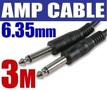 3M GUITAR AMP CABLE 6.35mm 6.3 TO 1/4 Mono Jack Lead 67