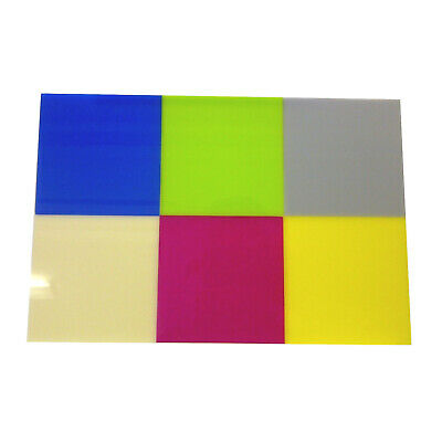Perspex Acrylic Sheet Stock Cuts 3Mm Colour Blue Green Grey Ivory Red & Yellow