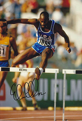 Edwin Moses Hand Signed 1987 Photo 12x8 2.