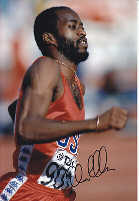 Edwin Moses Hand Signed 1983 Photo 12x8 1.