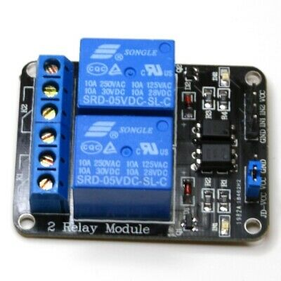 5V DC Dual Power Relay Module with Optocoupler