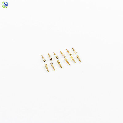 Dental Gold Plated Screw Posts Conical Cross Head Refill Size Medium 1 M1 12/Box