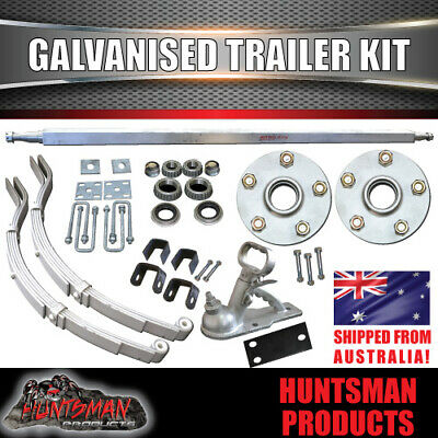 DIY 1000KG Boat Jetski Trailer Kit Galvanised Axle Dacromet slipper springs