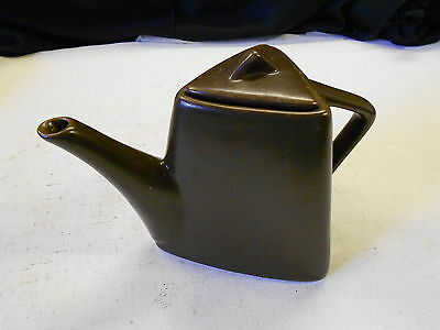 Designpac Inc. Melrose Park 3-sided Chocolate Brown Teapot. No Chips or Cracks