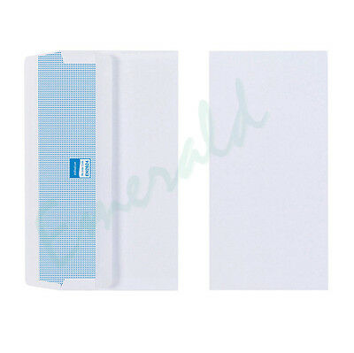 DL Plain White Envelopes Self Seal 110 x 220 Various Pack Sizes - Fast Dispatch