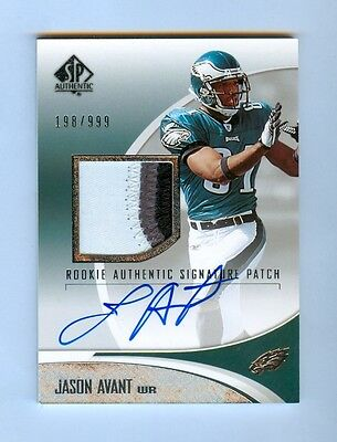 JASON AVANT 2006 SP AUTHENTIC AUTO 3CLR PATCH RC #/999