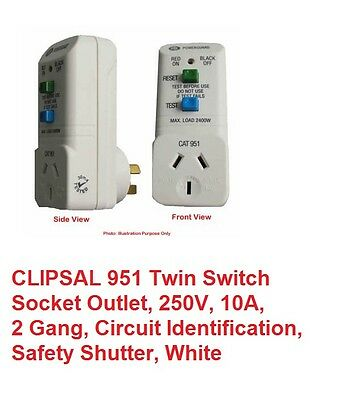 Electric Plug In Safety Switch Power Point Socket Safety Switches Portable