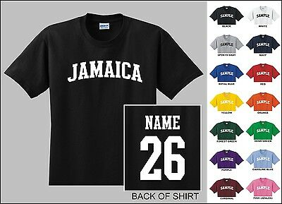 Country Of Jamaica Custom Name & Number Personalized Youth T-shirt