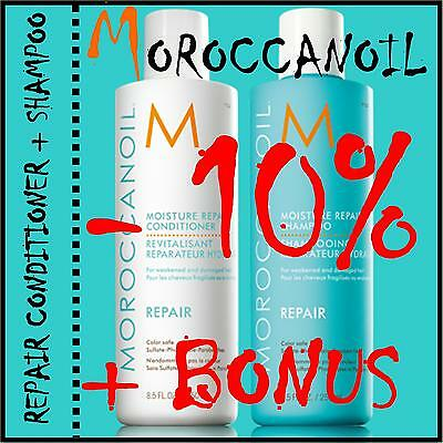 MOROCCANOIL Moisture Repair Conditioner + Repair Shampoo je 250ml + BONUS
