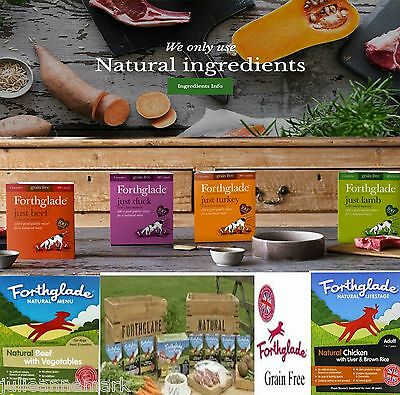 FORTHGLADE NATURAL DOG FOOD A MIXED VARIETY OF 18 x 395 gram trays