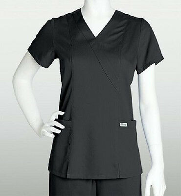 Grey's Anatomy Scrub Top Black 41101 Size Choice NWT
