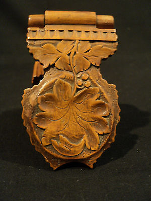 AWESOME 19th CENTURY GERMAN BLACK FOREST CARVED WOOD POCKET WATCH DISPLAY, NICE