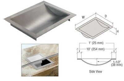 "Brushed Stainless Steel 12"" Widex10"" Deepx1-9/16"" High Std Drop-In Deal Tray"