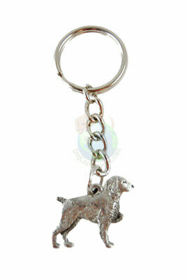 Brittany Keychain Key Chain Ring Fine Pewter