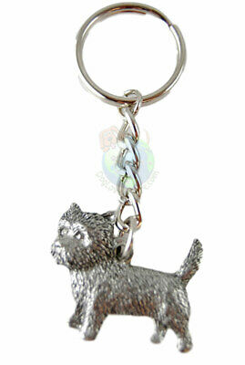 Cairn Terrier Keychain Key Chain Ring Fine Pewter