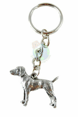 Vizsla Dog Fine Pewter Silver Keychain Key Chain Ring