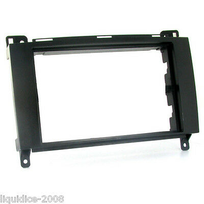 CT24MB16 MERCEDES A CLASS 2006 to 2013 BLACK DOUBLE DIN FRAME ONLY FASCIA PANEL