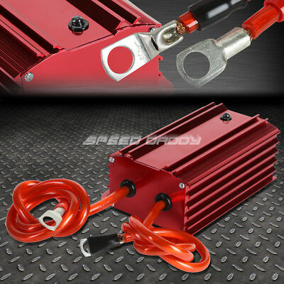High Efficiency Universal Car Battery Voltage Stabilizer Regulator+Cable Red