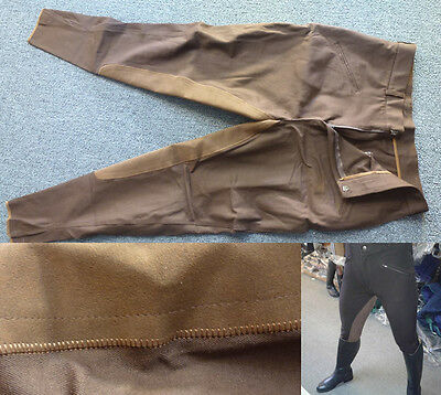 Brown Mens Horse Leather Riding Breeches Riding Pants Match has All SIZE