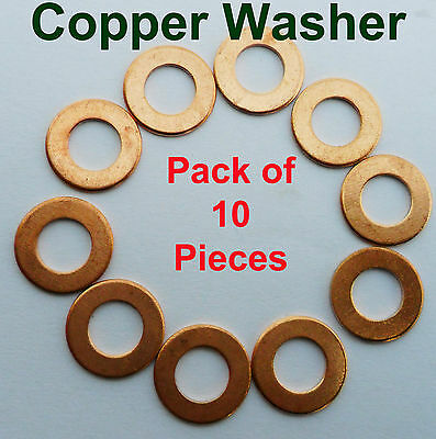 M3,M12 Copper Sealing Washers - Sump Seal Banjo Crush Engine Plug - Solid Copper