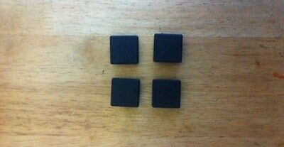 4 of  30 x 30mm square outside dimension Plastic End Caps for metal tube