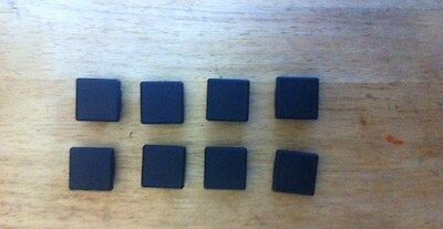 8 of  30 x 30mm square outside dimension Plastic End Caps for metal tube