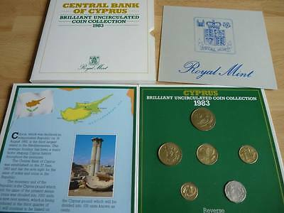 1983 Cyprus 6 coin Uncirculated set