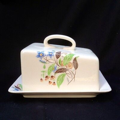 Vintage Royal Winton Grimwades China Cheese Keeper, Butter or Cheese Dish & Lid
