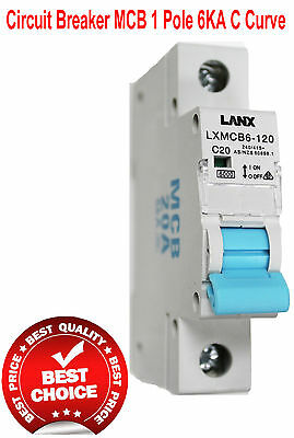 Din Rail Mount 20A Circuit Breaker MCB Electric Main Switch Switchboards
