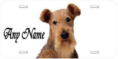 Airedale Terrier Personalized Any Name Novelty Car License Plate A1