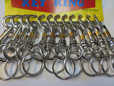 Lot of 12 Snap Trigger Hook Clips / Belt Cilp Keychains Key Rings
