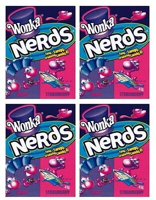 Bulk Lot 12 x Wonka Nerds Strawberry & Grape Willy Nerd Lollies Sweets Candy New