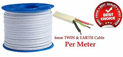 Electrical Cable 6mm Twin And Earth T+E Tps Per Metre Wire Wholesale Price