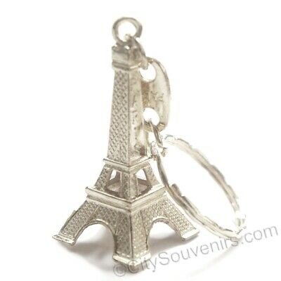 3D Silver Eiffel Tower Key Chain Souvenir from Online Gift Store