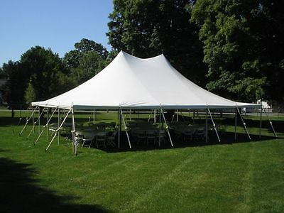 30 x 60 Commercial Pole Tent, White Canopy Awning, 16oz Blackout Vinyl