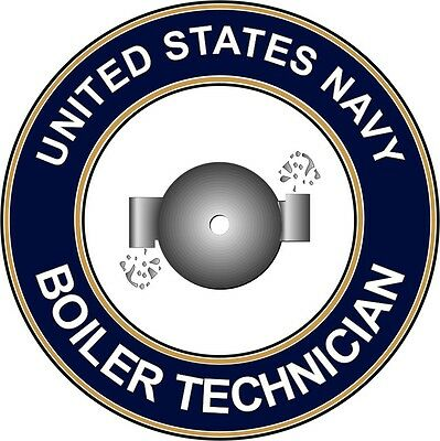 "Navy  Boiler Technician BT 5.5"" Die Cut Sticker / Decal 'Officially Licensed'"