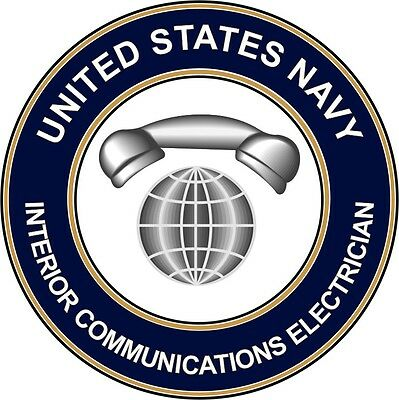 """Navy Interior Communications Electrician IC 5.5"""" Sticker 'Officially Licensed'"""