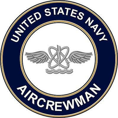 "Navy Aircrewman AW 5.5"" Die Cut Sticker / Decal 'Officially Licensed'"