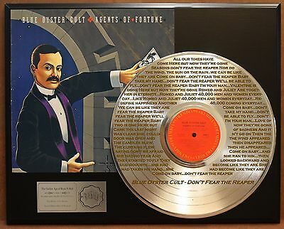 Blue Oyster Cult 24k Gold LP Etched Lyrics Don't Fear The Reaper Limited Edition