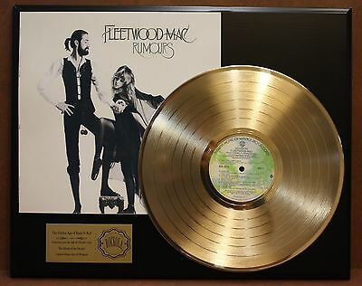 Fleetwood Mac - Rumours - 24k Gold LP Record Display - Free USA Shipping